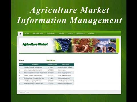 Agriculture Market Information Management ASP.NET with VB Project