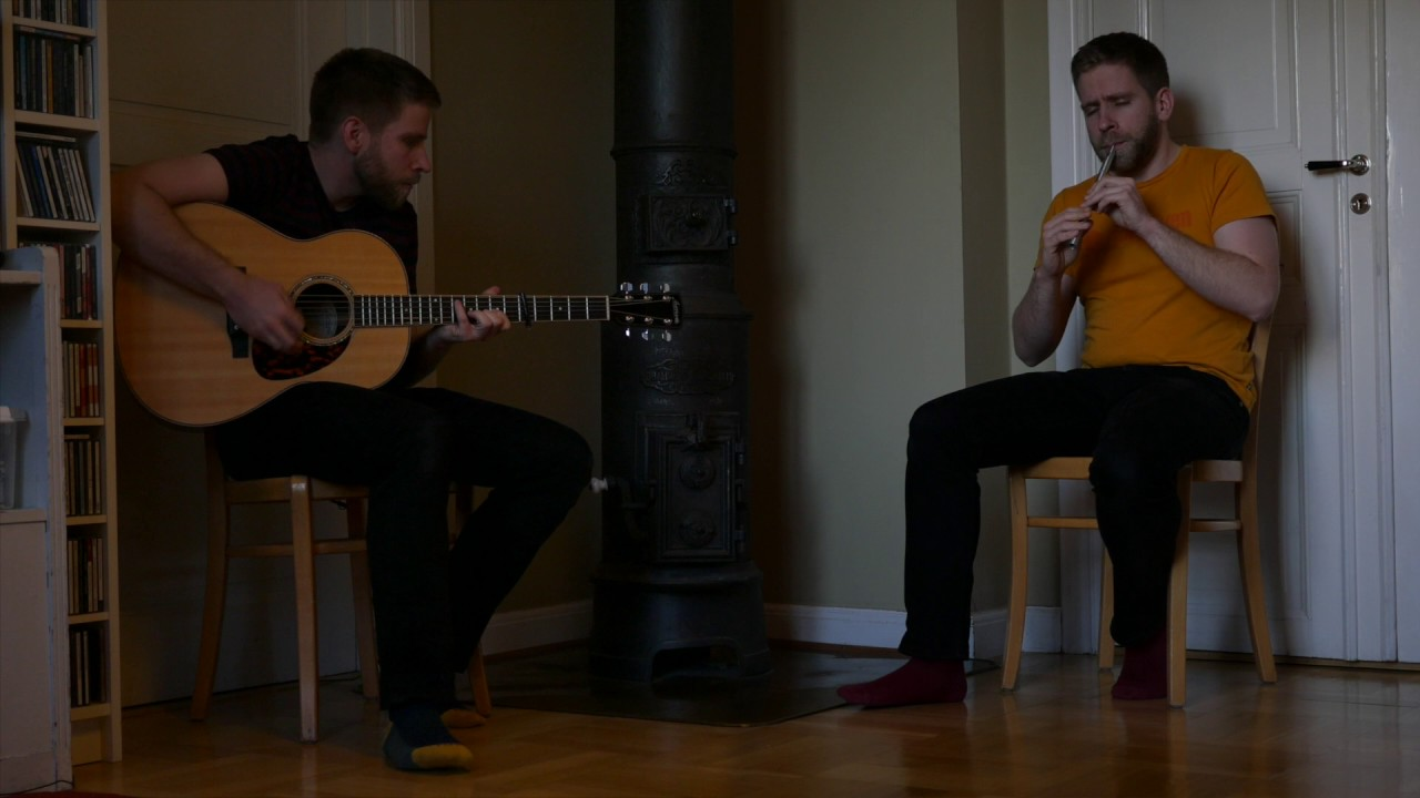 The Baltimore Salute (reel) on tin whistle and guitar