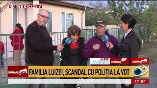 Familia Luizei Melencu, scandal cu Poliția la secția de vot: