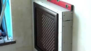 как сделать короб для батареи из гипсокартона