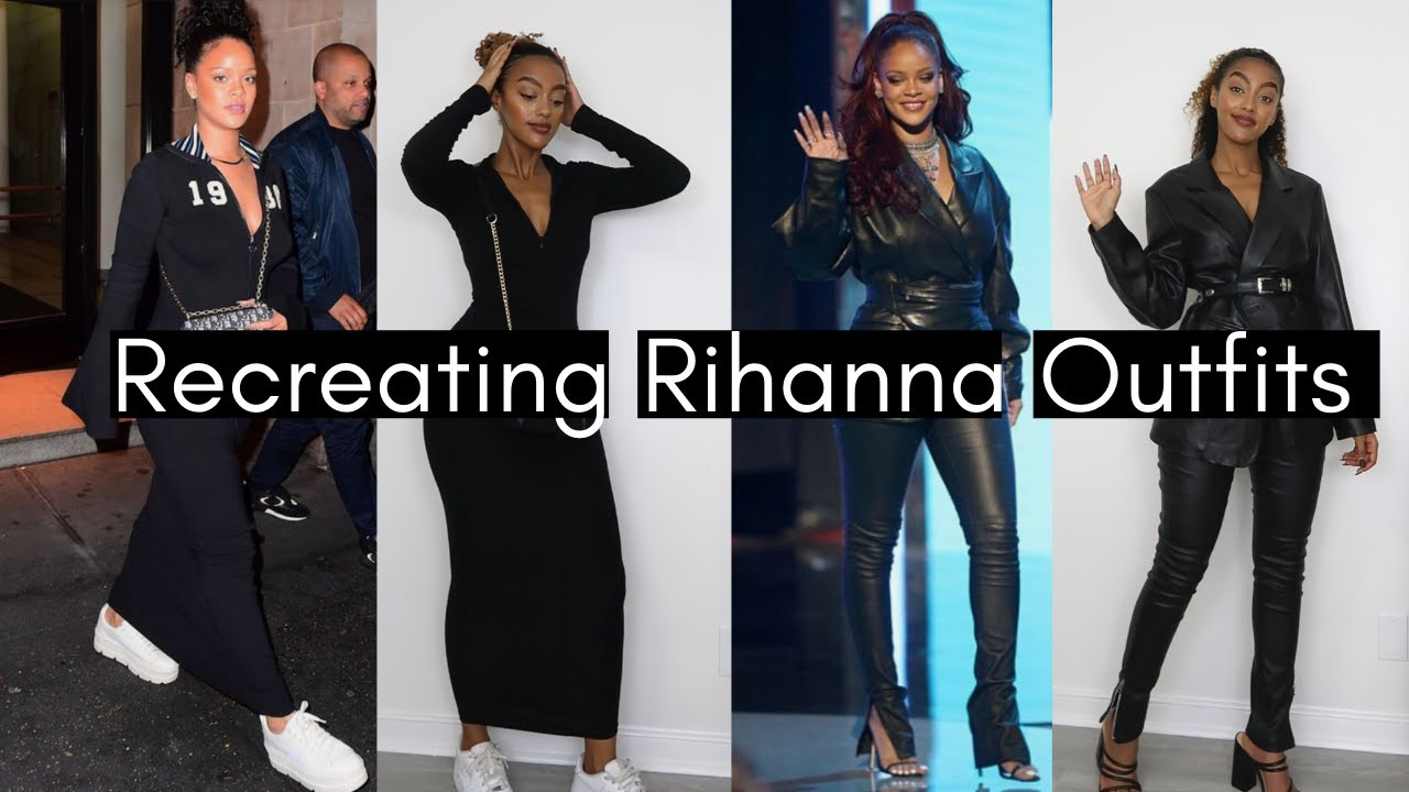 RECREATING RIHANNA OUTFITS! Celebrity outfits