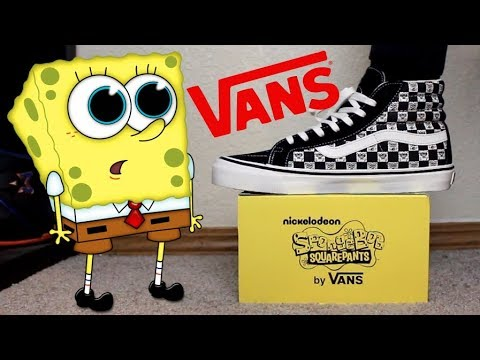 65ac960da4d745 Spongebob x Vans Sk8 High Collab Unboxing!! - YouTube