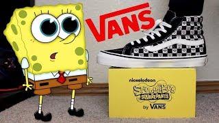 Spongebob x Vans Sk8 High Collab Unboxing!!