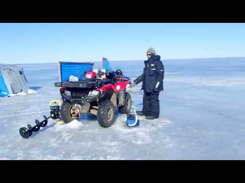 Ice Fishing Simcoe On A Breezy Day