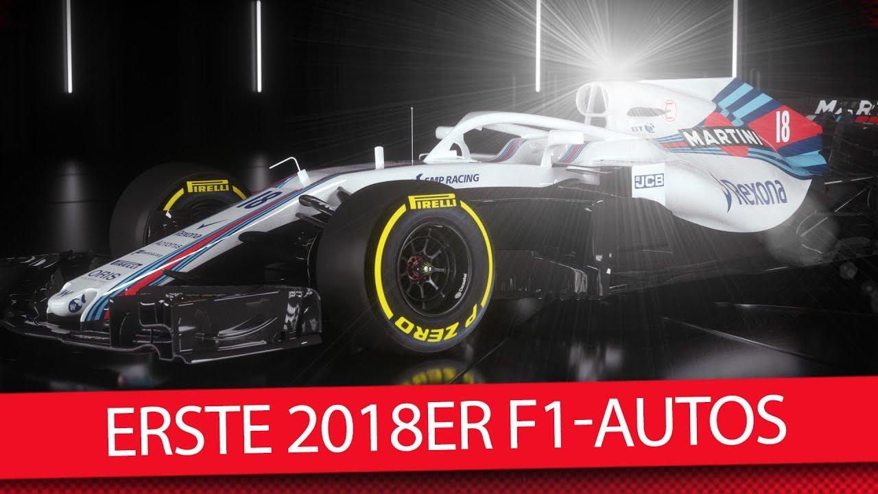Formel 1 Autos 2018: Die ersten neuen Boliden sind da! [Williams ...