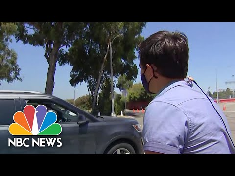 Watch NBC Reporter Inform Los Angeles Resident Coronavirus Testing Site Is Closed | NBC News NOW