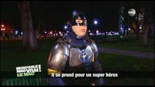 il se prends pour un super héros (incroyable mais vrai le mag)