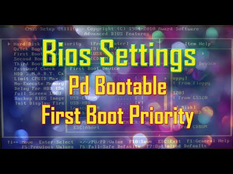 How To Change First Boot Device in BIOS to Boot From CD... | Doovi
