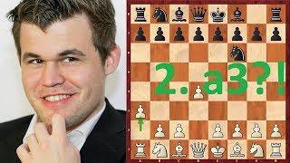 Шахматы. Магнус Карлсен снова чудит в дебюте и веселит публику! :)