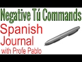 Neagtive Tú Commands - Spanish Journal