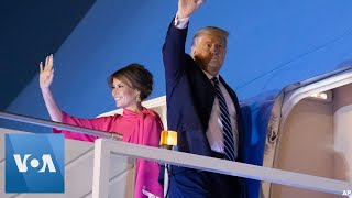 President Trump, First Lady Depart India