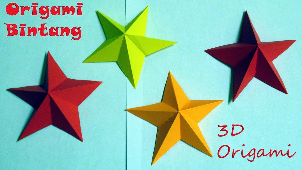 Cara Membuat Origami Bintang 3d Dengan Mudah Origami Star Easy Youtube