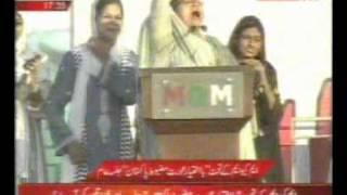 mirpurkhas karachi jalsa mqm tarana