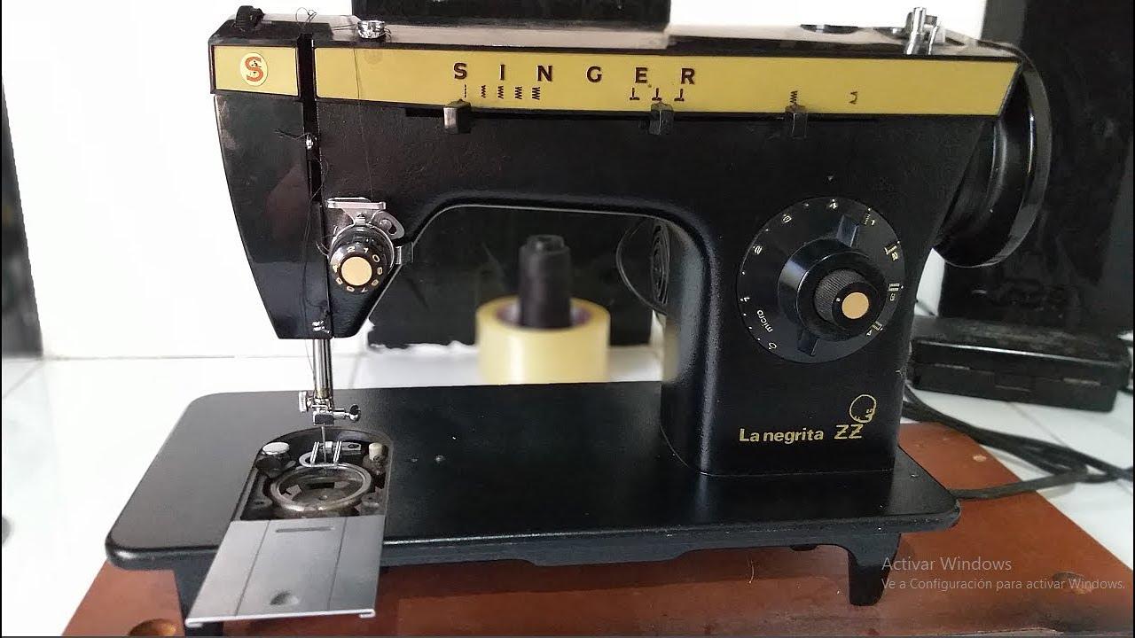 Puesta a punto maquina de coser NEGRITA ZZ l mecanica