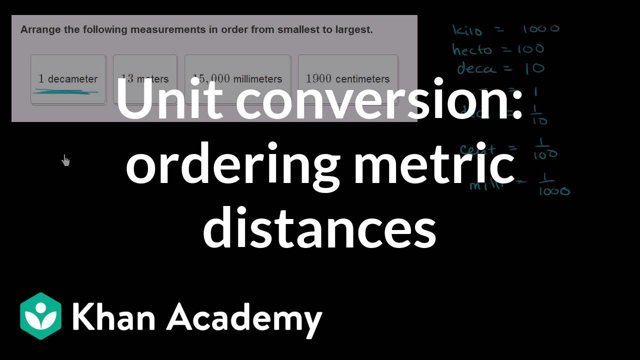 Metric unit conversions: distance (video) | Khan Academy