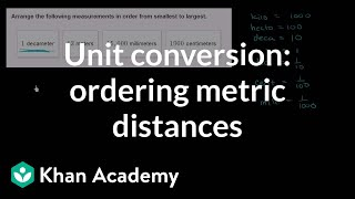 Unit conversion: ordering metric distances | Measurement and data | 5th grade | Khan Academy