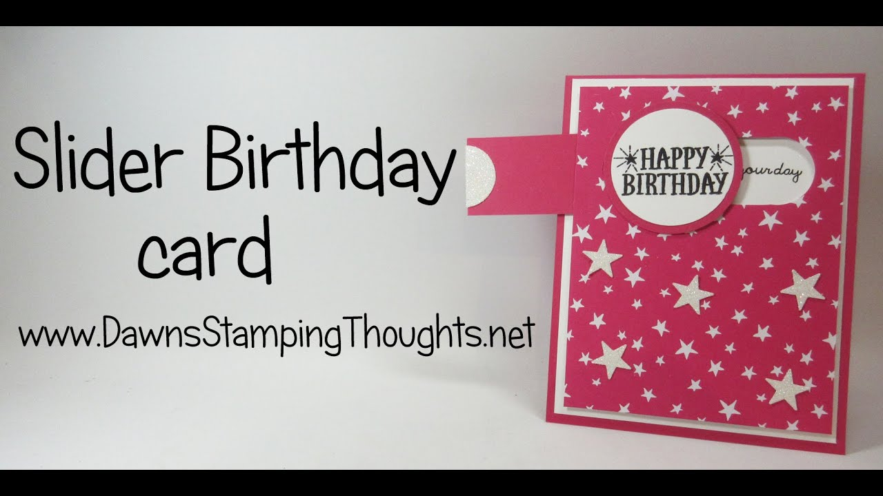 Slider Birthday card with Its My Party Designer paper from – Birthday Card with Pictures