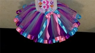 Юбка-пачка Туту с атласными лентами - Обзор /  Tutu skirt with satin ribbons - Overview