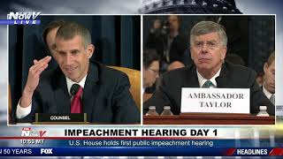 MUST WATCH: Full Republican Counsel Grills Witnesses at Impeachment Hearing