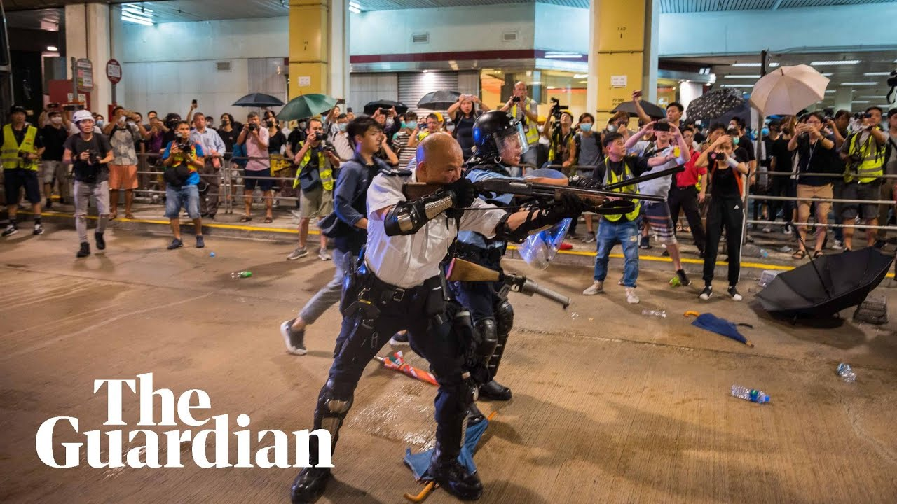 Hong Kong protester shot by police at point-blank range has been charged with assault