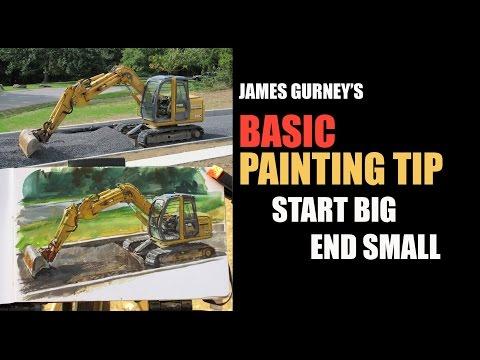 James Gurney's BASIC PAINTING TIP #1: Start Big / End Small