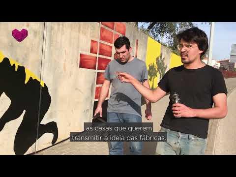 Mural de Arte Urbana na entrada de Oliveira do Bairro