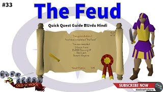 OSRSHow To Complete The Feud Quest 2020 Quick Quest Guide Urdu Hindi