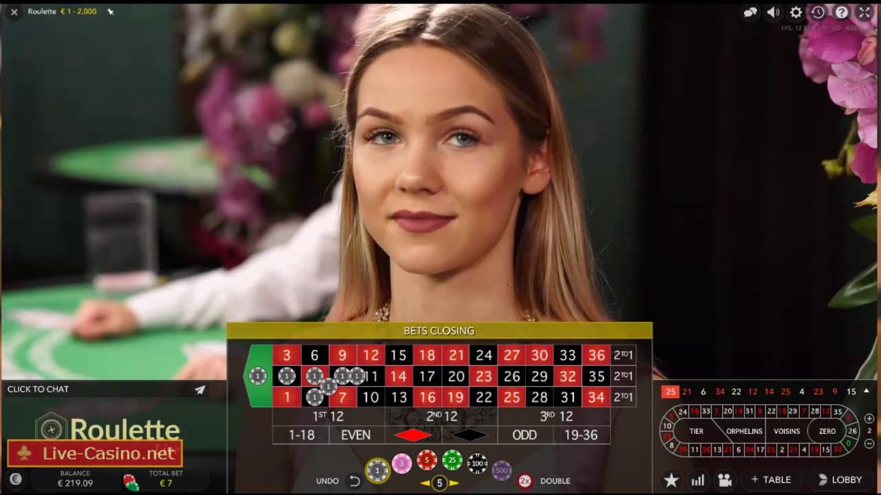 Roulette live evolution gaming cercle de jeu paris poker