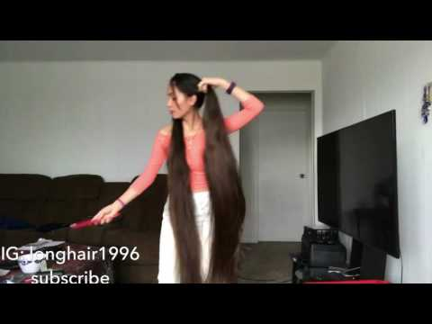 00 natural long hair pigtails