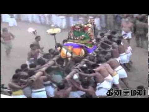 Vedu Pari in Trichy Srirangam Temple - Dinamalar Jan 19th 2014 Tamil Video News