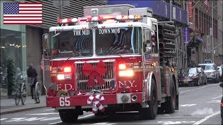 FDNY Fire Engine 65 responding - 'The Midtown Mob'