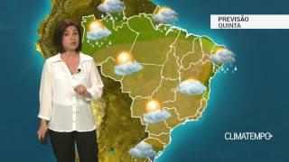 Previsão Brasil – Chuva aumenta no RS e Nordeste