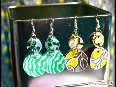 DIY Fabric Dangle Earrings
