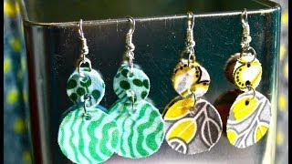 Gambar cover DIY Fabric Dangle Earrings