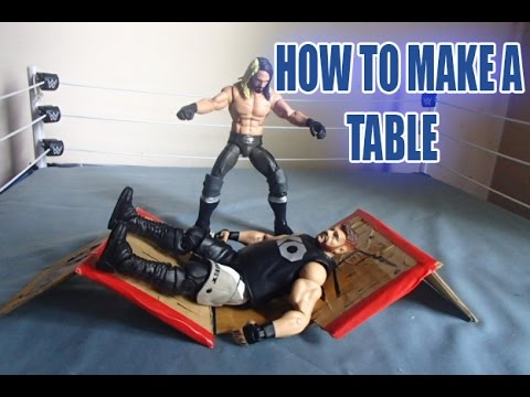 HOW TO MAKE A TABLE FOR WWE FIGURES!!