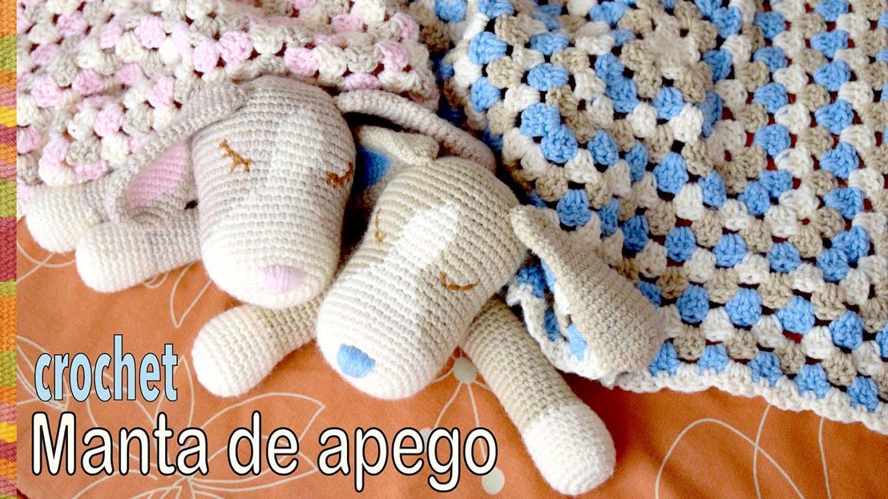 Colcha con perritos dormilones o manta de apego tejida a crochet ...