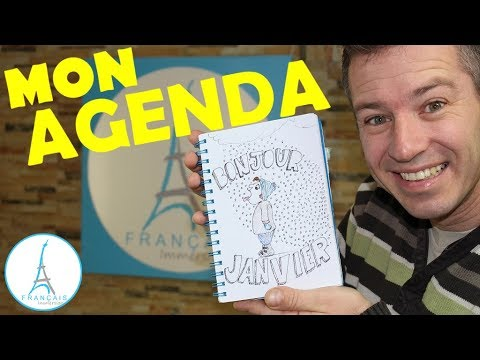 MY BULLET JOURNAL - Mon AGENDA (Learn French with Funny Fren