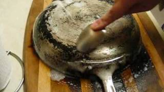 New Gel OilLift carbon remover cleans fry pan
