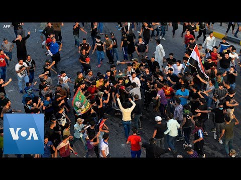 Protesters Clash With Police in Najaf, Iraq