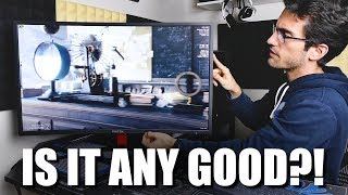 """This 32"""" Curved 1080p 144Hz Freesync Monitor is $300   Viotek GN32C Review"""