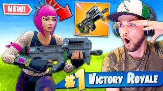 *NEW* LEGENDARY SMG GAMEPLAY in Fortnite: Battle Royale! (BEST GUN?)