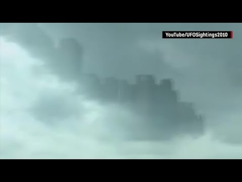 Floating city in the clouds: Fake or fata morgana?