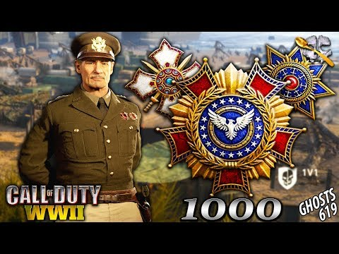 1000 LEVELS in CoD WW2!? ALL Prestige Icons in WW2!