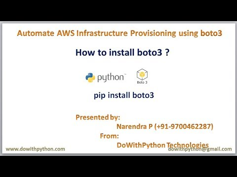 How to install boto3 ? | How to setup boto3 in less than 5 min ?