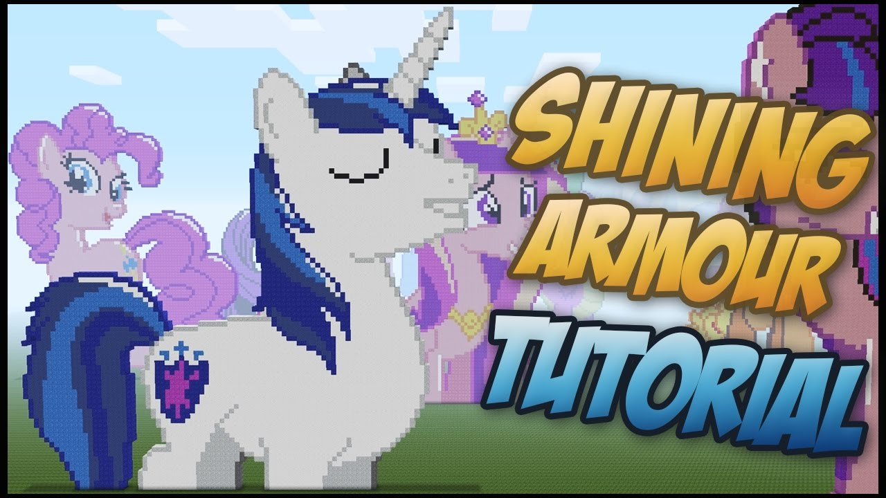 Minecraft Pixel Art Shining Armor Tutorial