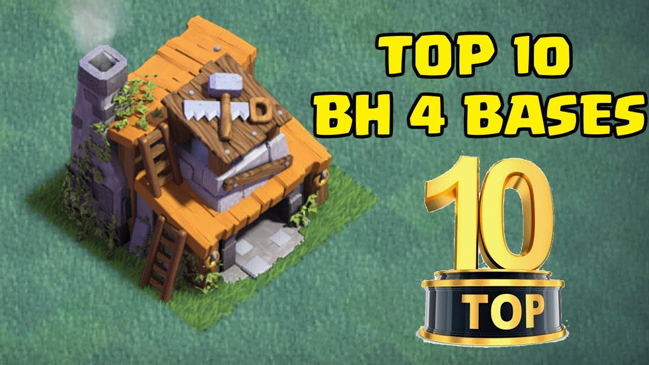 Top 10 Best Builder Hall 4 Bh4 Base Designs New Coc