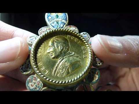 Micromosaic Pilgrim Souvenir Papal Pope Leo XIII