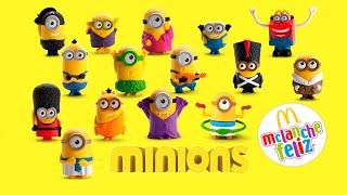 Minions 2015 Coleção Completa McDonald's 15 Brinquedos McLanche Feliz