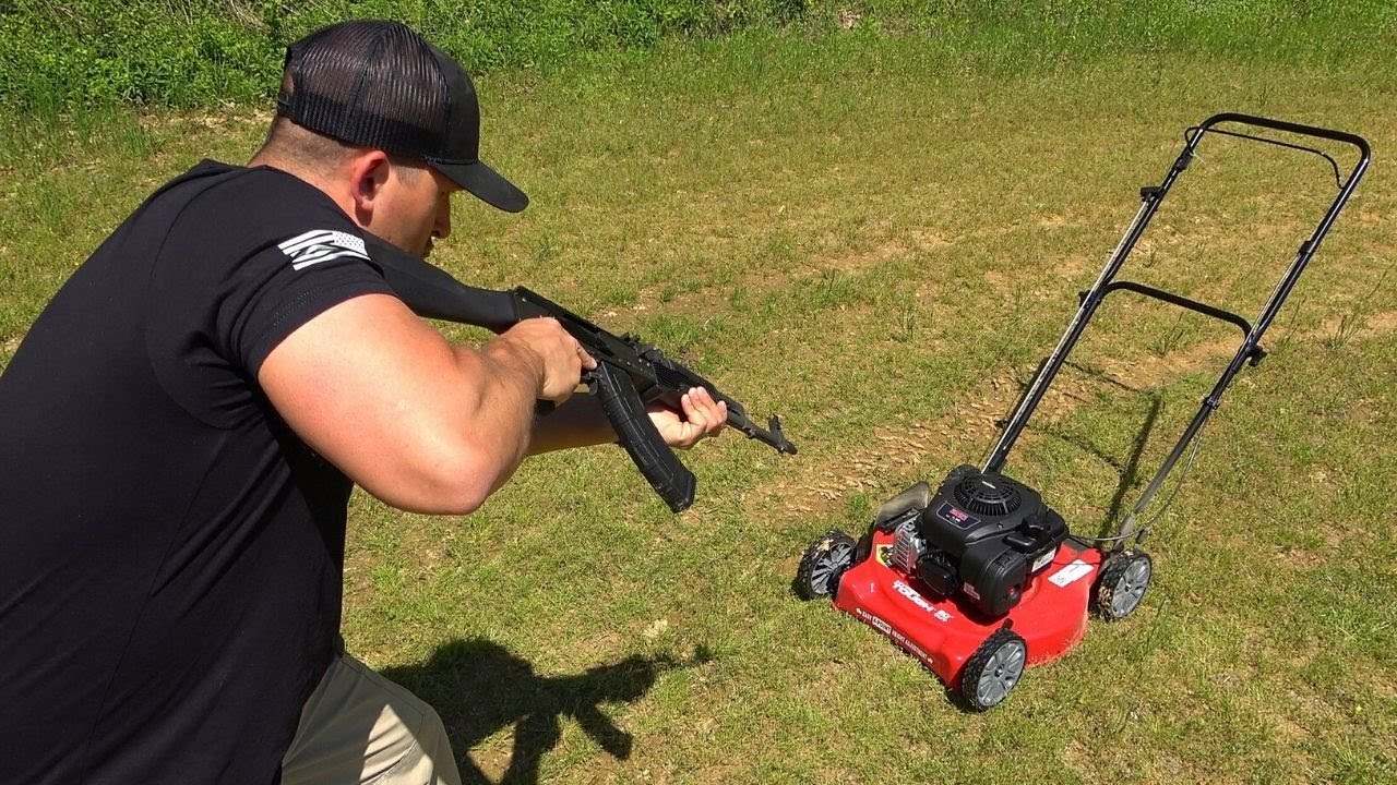 Full Auto AK-47 vs Lawn Mower (Full Auto Friday)