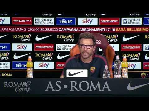 ROMA INTER Di Francesco Conferenza pre gara 25 08 2017